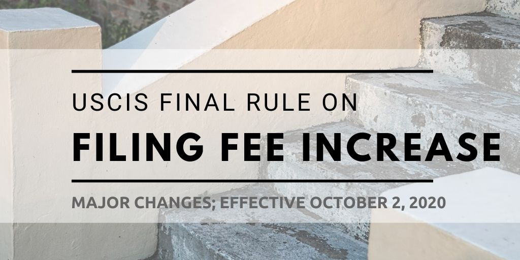 USCIS Announces Filing Fee Increase Starting October 2 - Capitol ...